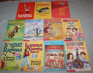 Lot-of-11-Ramona-Ralph-Mitch-Beezus-etc-by-Beverly-Cleary-3-hb