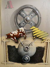"""James Carter """"Cow Over The Moon Machine"""" Airbrushed Painting Art"""