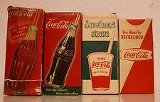 Coca Cola Straw Boxes 1930's - 40's - 50's - 60's