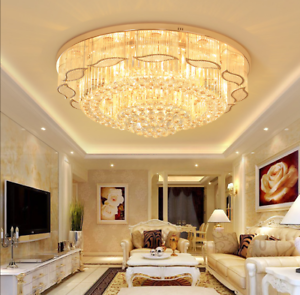 Led K9 Crystal Ceiling Lamp Living Room