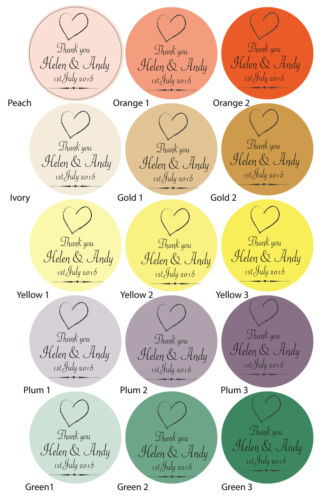 Labels Thank You Heart Seals Personalised  Party Wedding Favour Stickers