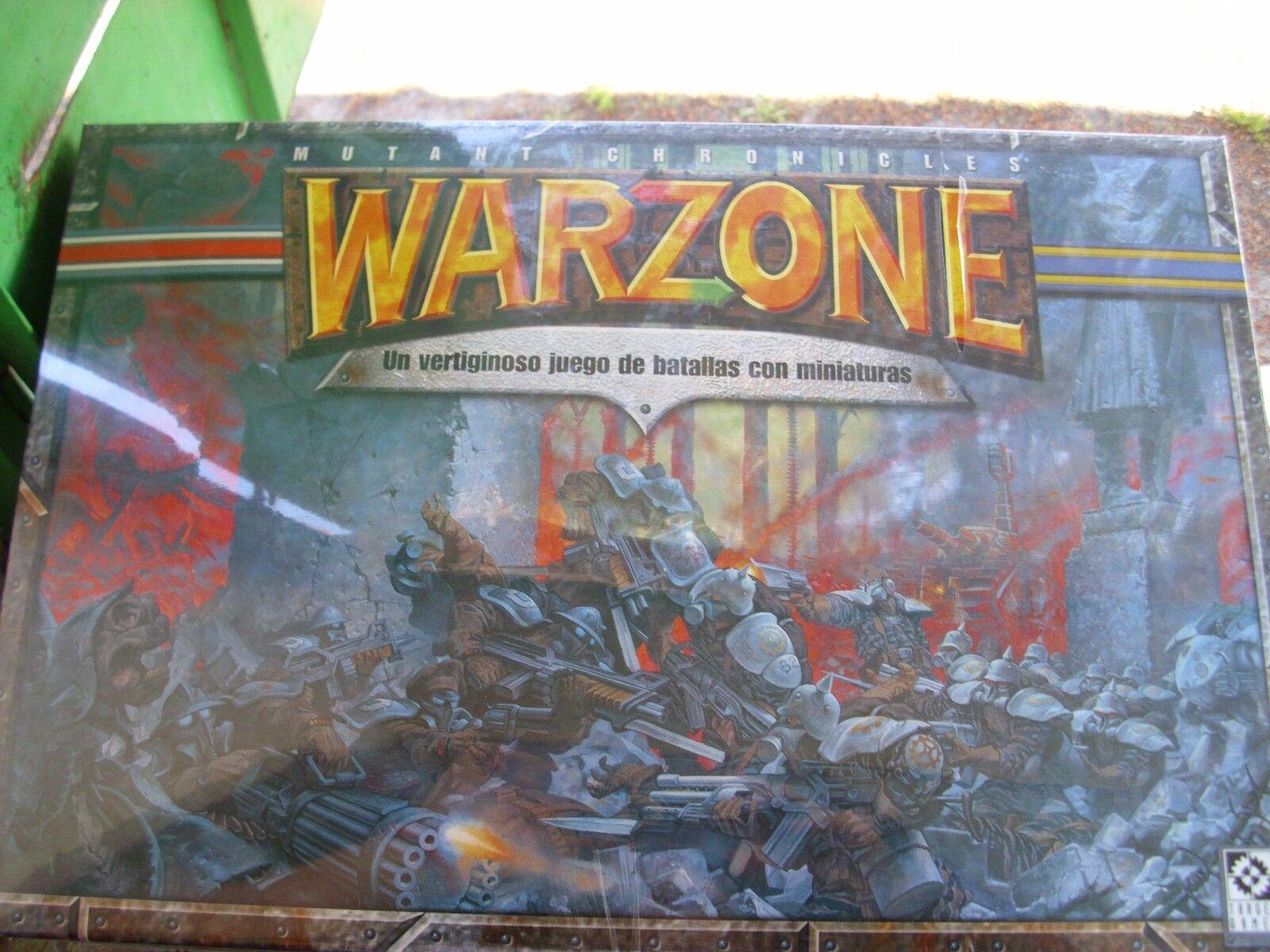 Warzone mutant chronicles-Stratégie chronicles-Stratégie chronicles-Stratégie Jeu De Guerre langue espagnole-NEW SEALED Épuisé 21d5ed