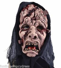 Halloween Death Reaper Hooded Torture Mask Ritual Devil Priest Fancy Dress SALE