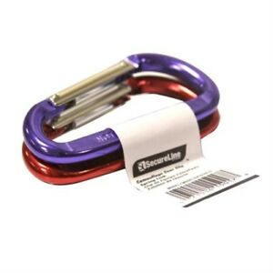 SecureLine7035<wbr/>BM-2P30 Mini Bright Spring Link Caribiner Clip, Multi-Color - 2 Pk