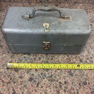 Vintage My Buddy Falls City Usa 242 Fishing Metal Tackle Box Ebay
