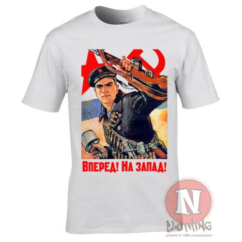 Soviet propaganda WW2 soldier communism T-shirt Eastern front World War 2 WWII