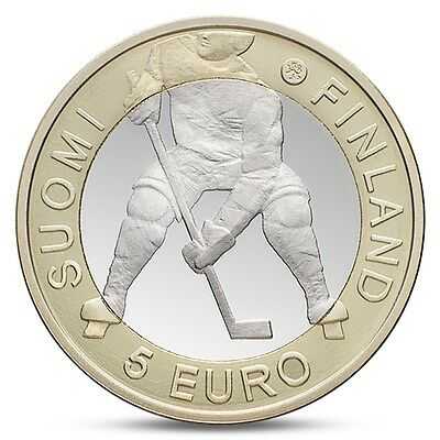 Finland 5 euro 2012 UNCIRCULATED HOCKEY BIMETALLIC