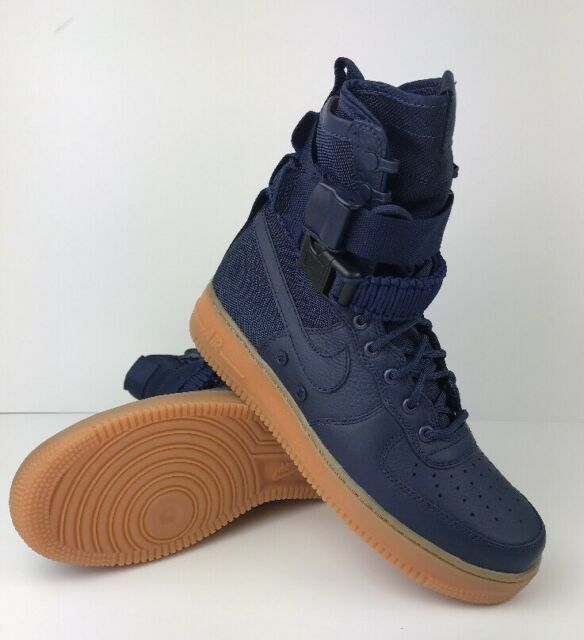 Nike SF AF1 Special Field Air Force Sneaker Boot Midnight Navy Blue Gum
