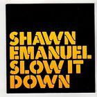 (GG189) Shawn Emanuel, Slow It Down - 2006 DJ CD