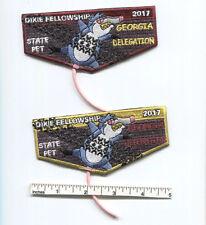 2017 SR-5 Dixie Fellowship Georgia Delegation Flap Set (2) State Pet