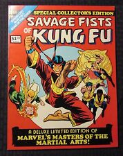 1975 SAVAGE FISTS OF KUNG FU Marvel Treasury #1 VF 8.0 Iron Fist Shang-Chi
