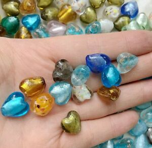 Wholesale-50-Pcs-12mm-Heart-Lampwork-Top-quality-glass-beads-for-jewelry-DIY