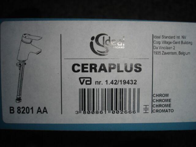 Ideal Standard B 8201 AA Ceraplus Waschtischarmatur Einhebelmischer Chrom  OVP