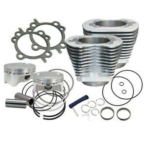 S-amp-S-Cycle-4-034-Sidewinder-100-034-Big-Bore-Kit-039-99-039-06-HDA-Big-Twin-Cam-Silver