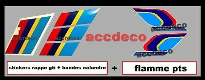 Auto, Moto – Pièces, Accessoires Stickers Pts Kit Rappe+bandes Calandre+flamme Pts Peugeot Sport 205 Gti,rallye Refreshing And Beneficial To The Eyes Tuning, Styling
