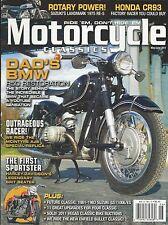 Motorcycle Classic magazine Rocket Goldie Original Velo KTT MV Scrambler BMW R67