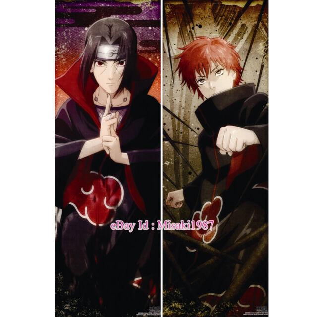 """Naruto Dakimakura Itachi Sasuke Uchiha Anime Hugging Body Pillow Case Cover 59/"""""""