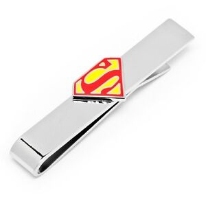 be594870999d Image is loading Superman-Shield-TIE-BAR-Enamel-DC-COMICS-Mens
