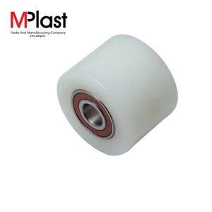 Details about Nylon front load roller wheel 80x60 mm for hand pallet/pump  truck, inc  bearings