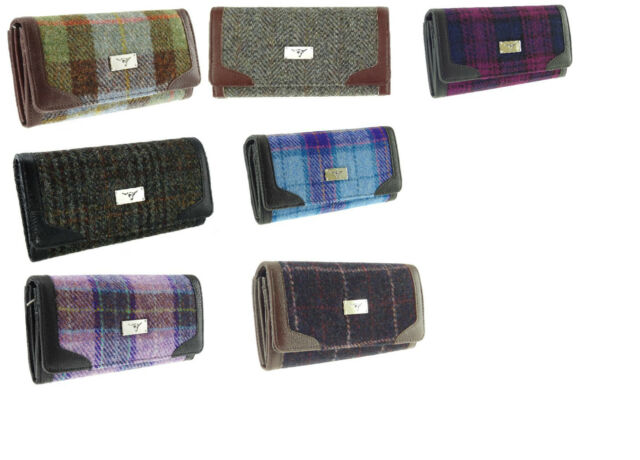 Glen Appin Harris Tweed Ladies Bute Fold-Over Purse LB2000 choice of colours