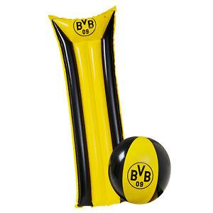 ORIGINAL-BVB-Luftmatratze-Wasserball-als-Set-Borussia-Dortmund