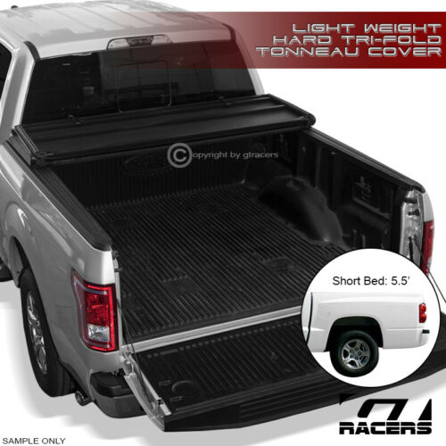 "For 2000-2004 Dakota Quad 5.5 Ft 66/"" Short Bed Tri-Fold Hard Tonneau Cover Lw"