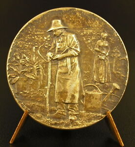 Medaille-argent-Bar-le-Duc-Horticulture-maraichage-Jardin-Gardener-silver-medal