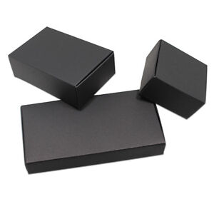 Details About 50x Small Gift Box Black Kraft Paper Craft Handmade Soap Jewelry Packaging Box