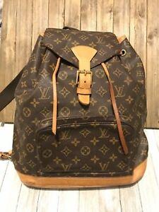 a8487bee5861 Details about Authentic Louis Vuitton Monogram Montsouris GM Women Large  Backpack + Receipt
