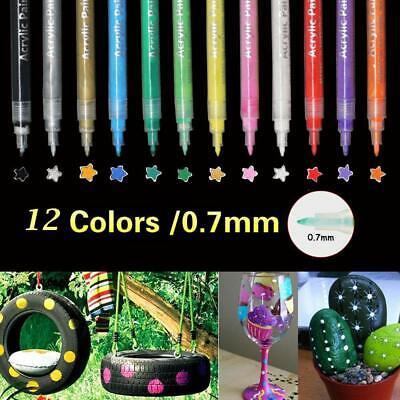12 Acrylstifte Set für kleine filigrane Anwendungen Steine 1mm STRICHSTÄRKE NEU