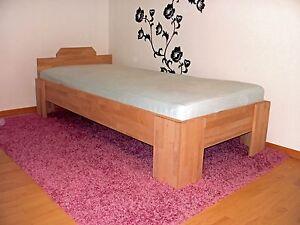 Massivholz-Bett-100x200-Fuss-I-Doppelbett-Gaestebett-Futonbett-Buche-Schlafzimmer