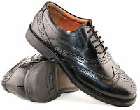 Mens Leather Upper Foam Padded Vamp Wide Fitting Lace Up Brogues Shoes Size 6-14