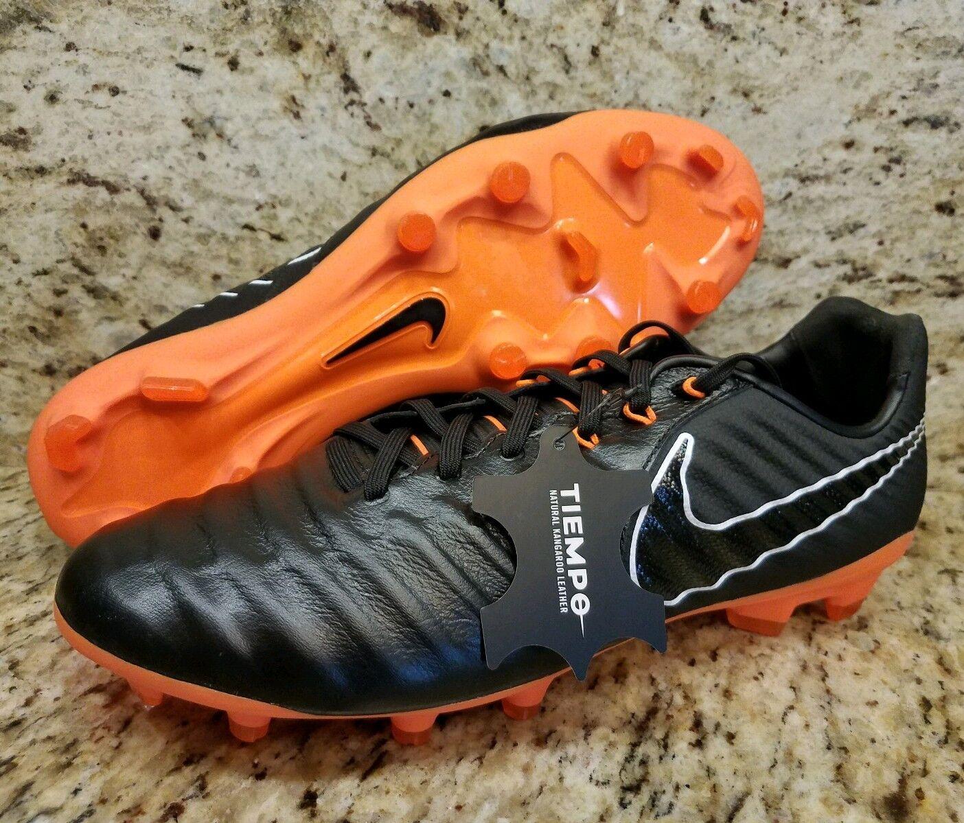 Nike tiempo 7 legende 7 tiempo vii - fg schwarz - orange insgesamt 11,5 ah7241-080 neue  sz b04684