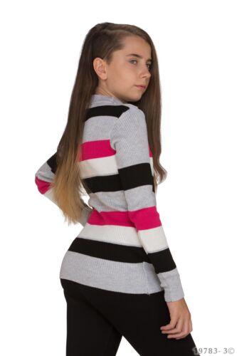 Pullover Kinder Strick Pullover Longpulli 4 FARBEN Kid/'s Look