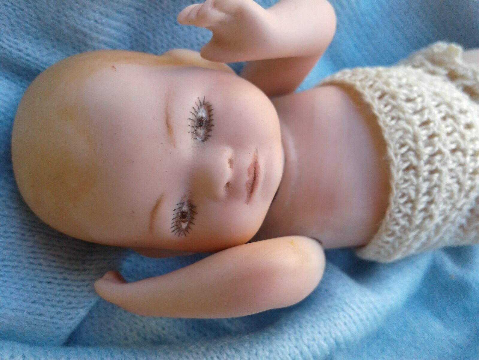 Vintage Grace Putnam  BYE LO BABY  Miniature Doll BISQUE Jointed GERMANY