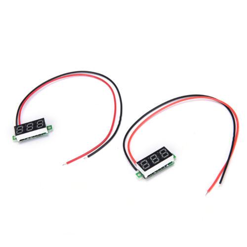 Mini Dc 2.4-Voltmètre Led Mètre De Tension 3-Afficheur Numéri FE