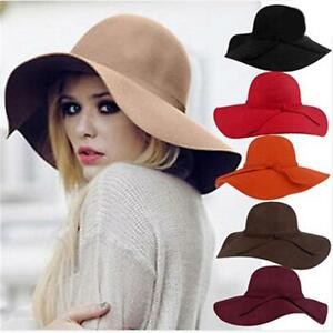 Women-Floppy-Wide-Brim-65-Wool-Felt-Fedora-Cloche-Hat-Cap-Cotton-Blend-Hats-T-lt