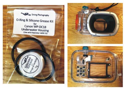 Repuesto Junta tórica y grasa de Silicona Kit Para Canon wp-dc18 Buceo Caja