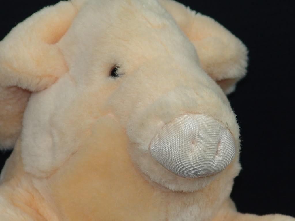 VINTAGE 1987 LIFELIKE Younker FRANCESCA HOERLEIN PIG PLUSH STUFFED ANIMAL PIGLET