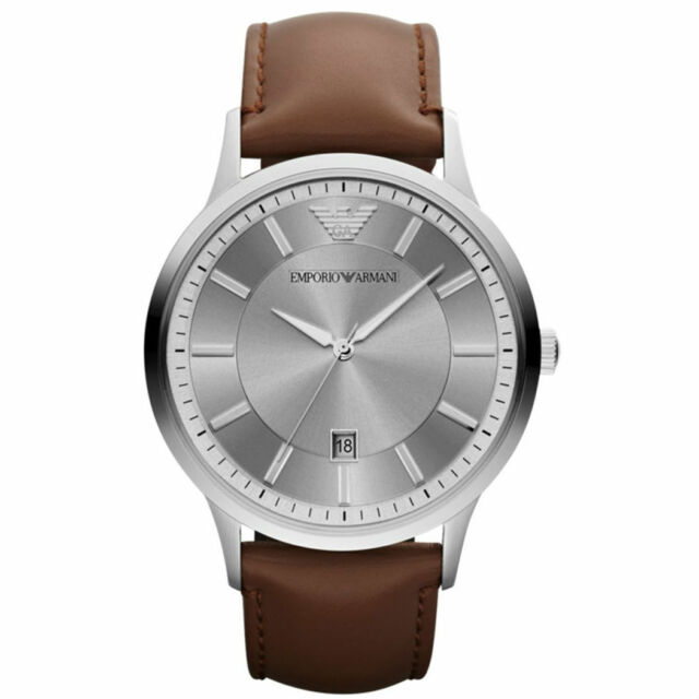 NEW EMPORIO ARMANI AR2463 MENS LEATHER WATCH - 2 YEARS WARRANTY - CERTIFICATE