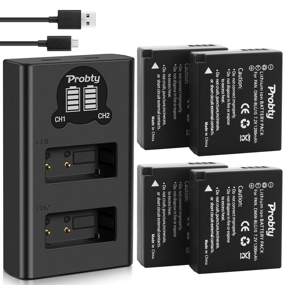 4 Batteries   Dual Charger