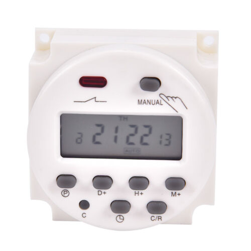 CN101A 24V-220V LCD Digital Weekly Programmable Power Timer Time Relay SwitBLUS