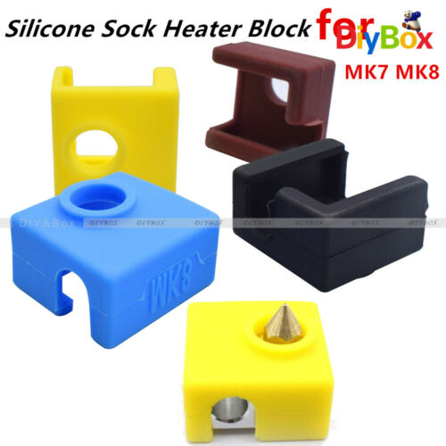 Silicone Sock Heater Block Cover 4 Colors For 3D Printer MK7 MK8 Heated Extrude