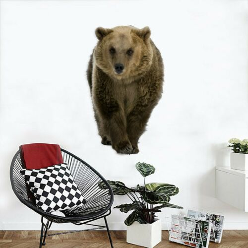 Details about  /3D Fierce Bear A12 Animal Wallpaper Mural Poster Wall Stickers Decal Zoe