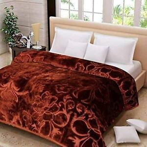 Doppel Ply 4Kg Blumenmuster Kieselsteine Design Bett Geprägt Wende Nerz Umhang
