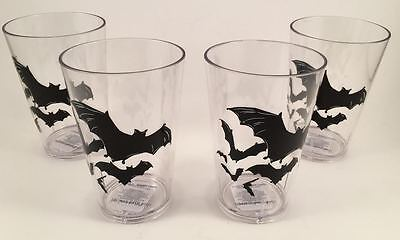 Pottery Barn Kids Halloween Set 4 Cups Tumblers Bats New