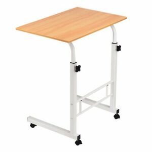 Laptop-Table-Adjustable-Height-Mobile-Wooden-Study-Stand-Computer-Bed-Desk-AUS