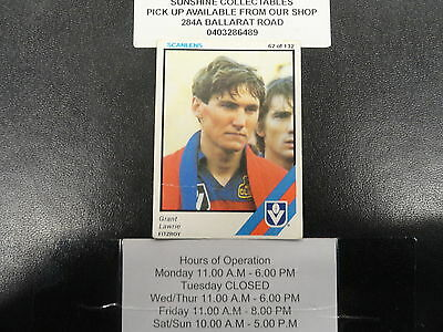 100% Quality 1984 Scanlens Card No.62 Grant Lawrie Fitzroy