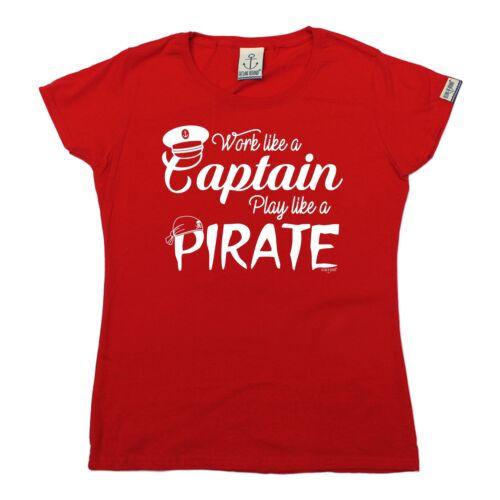 Ladies Sailing Tee Play Like A Pirate sailboat crew funny BirthdayT-SHIRT