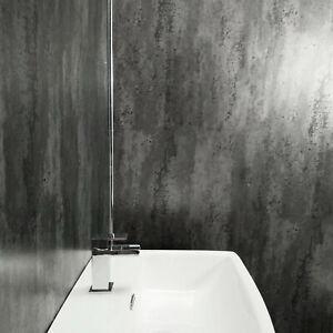 grey metallic large bathroom shower panels wet wall